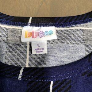 Lularoe Carly Dress Purple Plaid